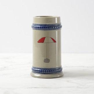 Custom Colorful Beach Umbrella Water Bottles Clock Beer Stein