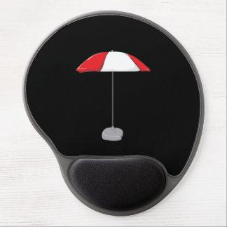 Custom Colorful Beach Umbrella Water Bottles Clock Gel Mousepads