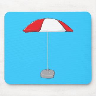 Custom Colorful Beach Umbrella Water Bottles Clock Mouse Pad