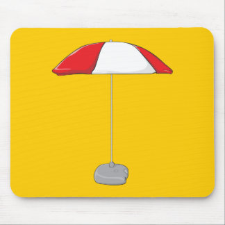 Custom Colorful Beach Umbrella Water Bottles Clock Mousepads