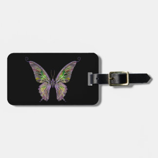 Custom Colorful Butterfly Luggage Tag