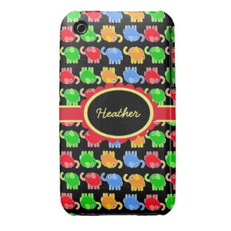 Custom Colorful Elephants Case-Mate iPhone 3G/3GS iPhone 3 Case