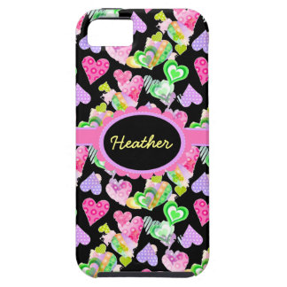 Custom Colorful Hearts Vibe iPhone 5 Case