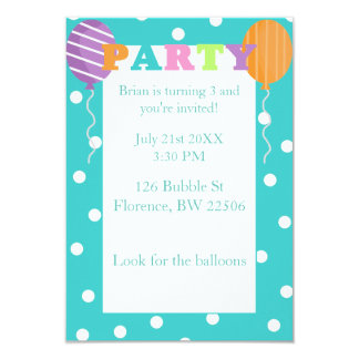 Custom Colorful Kids Birthday Party Invite