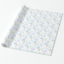 Custom Colorful Lizards Birthday Wrapping Paper
