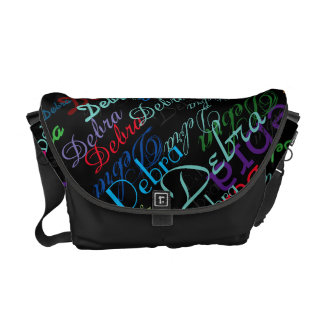 custom colorful name courier bag