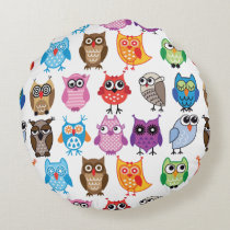 Custom Colorful Owl Pillow