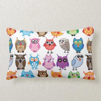 Custom Colorful Owl Pillow