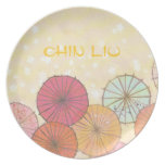 Custom Colorful Parasol Umbrella Plate