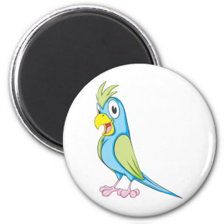 Custom Colorful Parrot 2 Inch Round Magnet