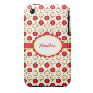 Custom Colorful Red Apples Case-Mate iPhone 3G/3GS Case-Mate iPhone 3 Cases