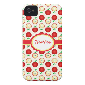Custom Colorful Red Apples iPhone 4 Barely There iPhone 4 Case