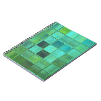 custom colorful square pattern notebook