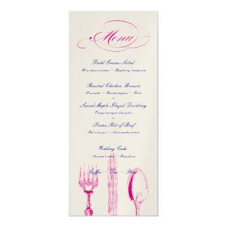 Custom Colors Menu 4x9.25 Paper Invitation Card