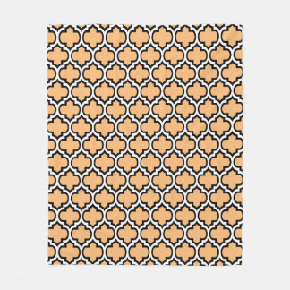 Custom Colour Quatrefoil Pattern Fleece Blanket 1