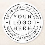"Custom Company Business Logo Round Paper Coaster<br><div class=""desc"">Create Your Own Business Logo Round Paper Coaster. For more advanced customization of this design,  Please click the ""Customize further"" link.</div>"