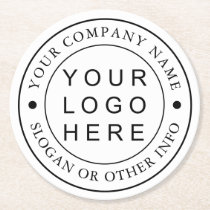 Custom Company Business Logo Round Paper Coaster