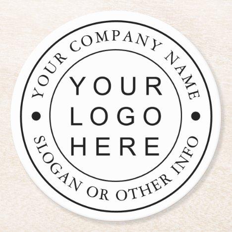 Custom Company Business Logo Round Paper Coaster