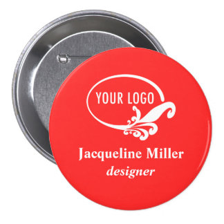 Custom Company Holiday Party Name Badge Button