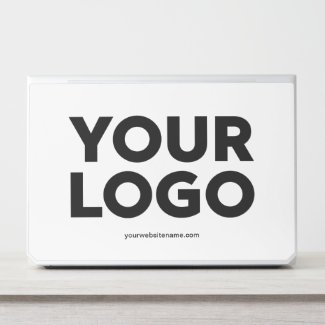 Custom Company Logo and Business Website or Text HP Laptop Skin