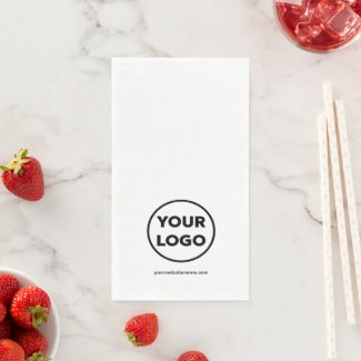 Custom Company Logo and Business Website Paper Guest Towels