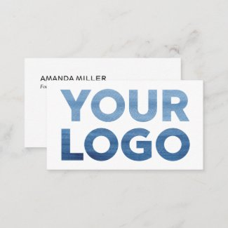 Custom Company Logo and Contact Info Business Card