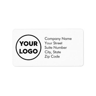 Custom Company Logo Business Address Label