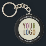 "Custom Company Logo Button Keychain No Minimum<br><div class=""desc"">Easily personalize this large custom button keychain with your company logo. Custom logo promotional keychains are useful and lightweight for advertising your brand as corporate swag and trade show giveaways. You can customize the color of the background and the border so try changing them to match your corporate colors. The...</div>"