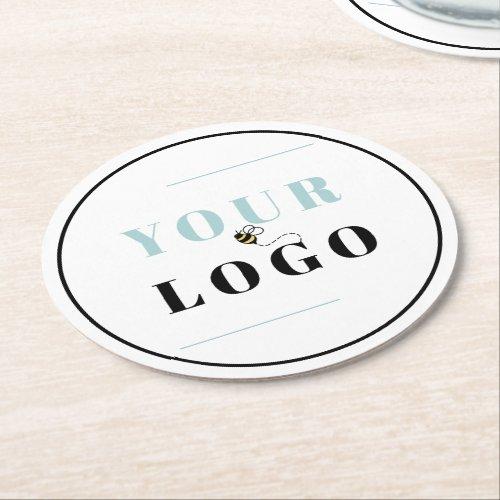 Custom Company Logo Round Paper Coaster