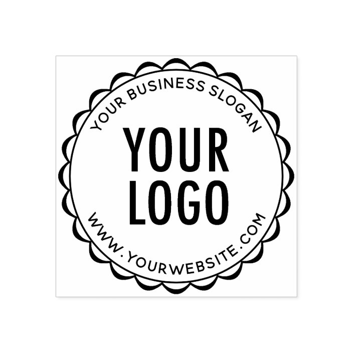 Custom Company Logo Rubber Stamp Round
