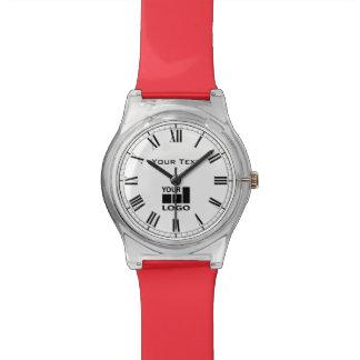 Custom company name and logo roman numerals watch