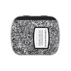 Custom Composition Book Black/White School/Teacher Candy Tin at Zazzle