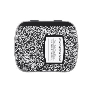 Custom Composition Book Black/White School/Teacher Candy Tin