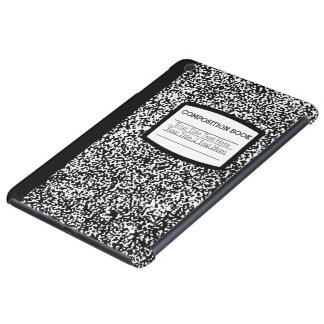 Custom Composition Book Black/White School/Teacher iPad Mini Case