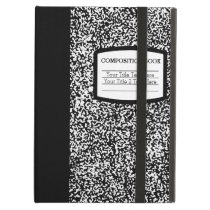 Custom Composition Book Black/White School/Teacher iPad Air Cover