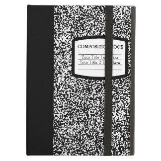 Custom Composition Book Black/White School/Teacher iPad Air Covers