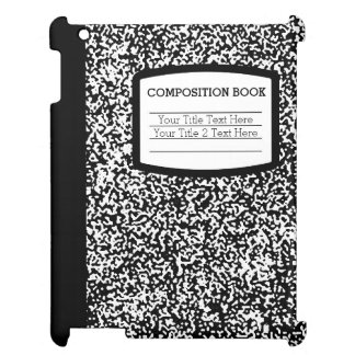 Custom Composition Book Black/White School/Teacher Cover For The iPad