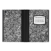 Custom Composition Book Black/White School/Teacher iPad Mini Case