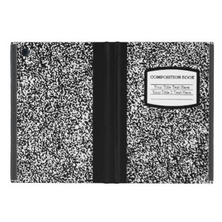 Custom Composition Book Black/White School/Teacher iPad Mini Covers
