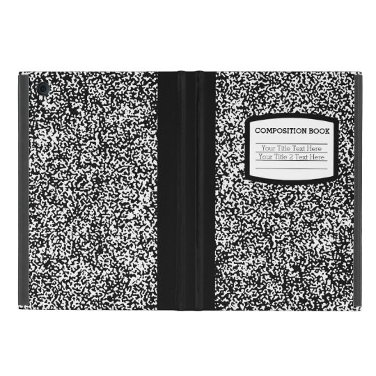Custom Composition Book Black/White School/Teacher iPad Mini Covers