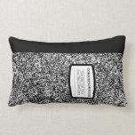 Custom Composition Book Black/White School/Teacher Lumbar Pillow
