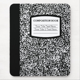 Custom Composition Book Black/White School/Teacher Mouse Pad