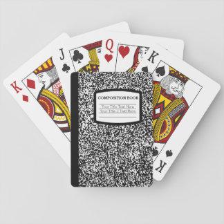 Custom Composition Book Black/White School/Teacher Playing Cards