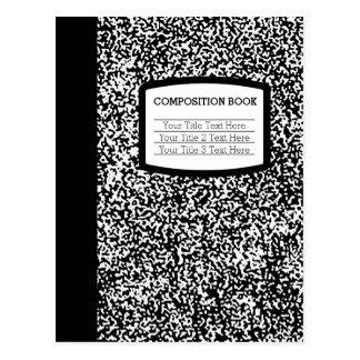 Custom Composition Book Black/White School/Teacher Post Card