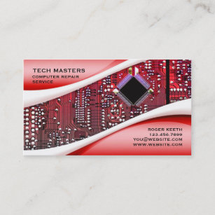 Computer repair business cards templates zazzle custom computer repair business card colourmoves
