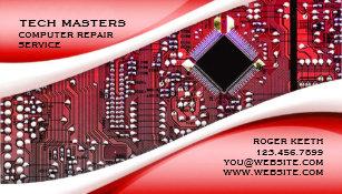 Custom Computer Repair Business Card