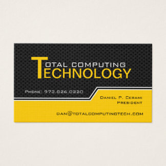 Custom Computer Technician Business Card
