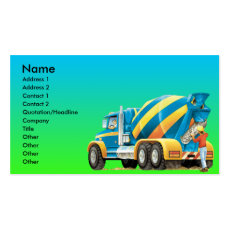 Custom Concrete and Cement Mixer Business Card