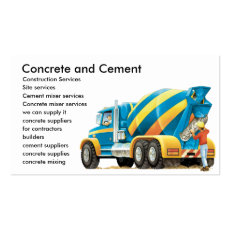 Custom Concrete Cement Construction Business Card