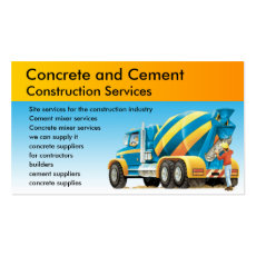 Custom Concrete Construction Services Business Card
